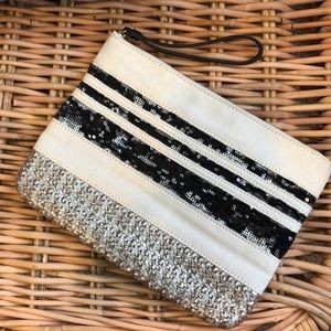 Gap Sequin Stripe Clutch